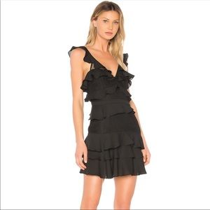 Revolve Bardot Lace Ruffle Babylon Dress (A4)